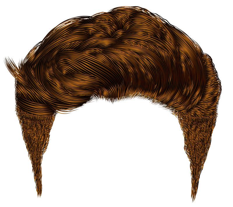 矢量的时尚男士短发插图