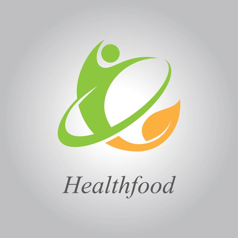 创意有机绿色健康食品标志设计