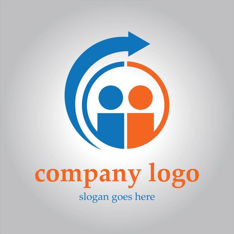 创意矢量人际沟通的标志设计