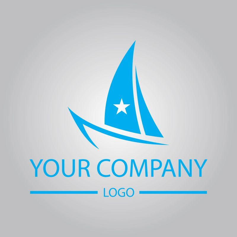 创意矢量游艇标志设计
