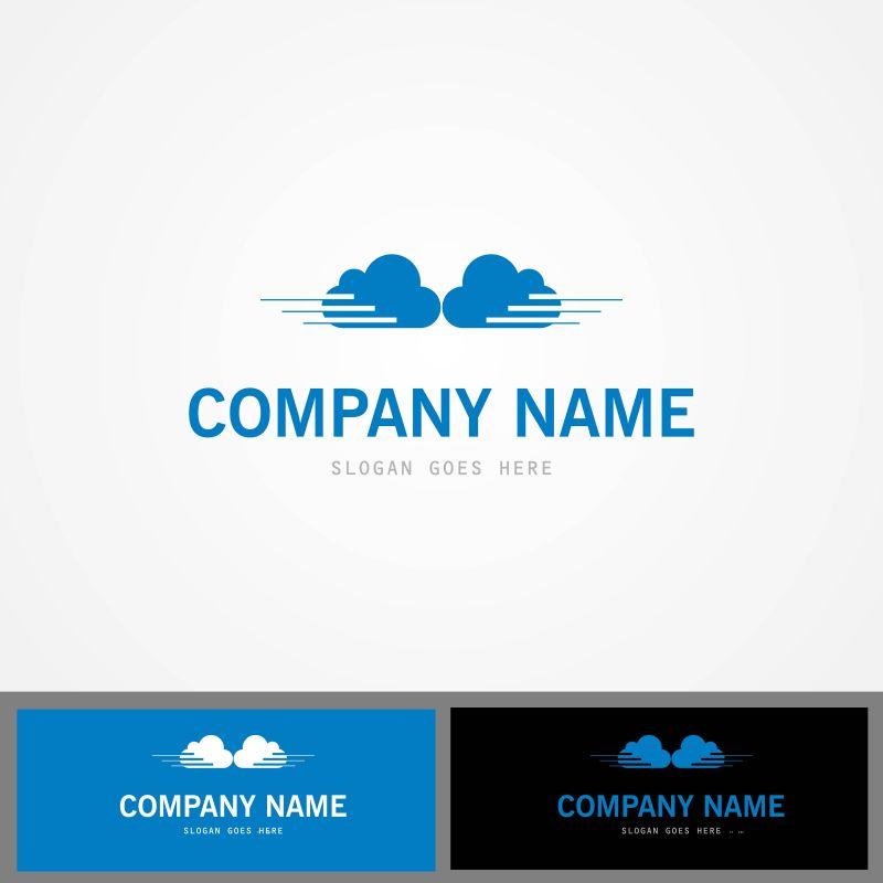 创意矢量云数据的标志设计