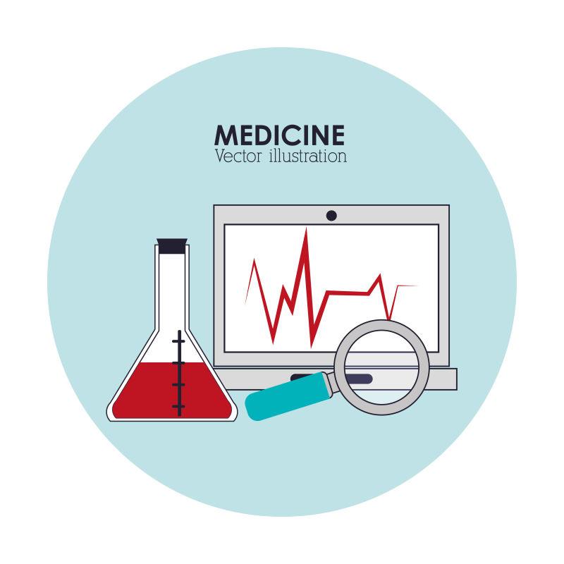 医院设备图案的矢量医疗保健图标