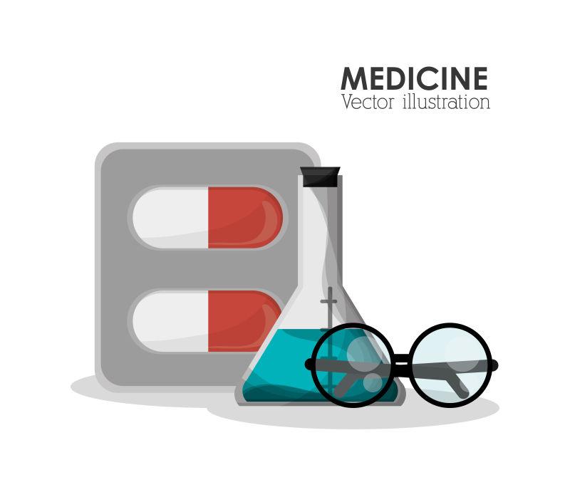 矢量的化学药剂图案标志设计