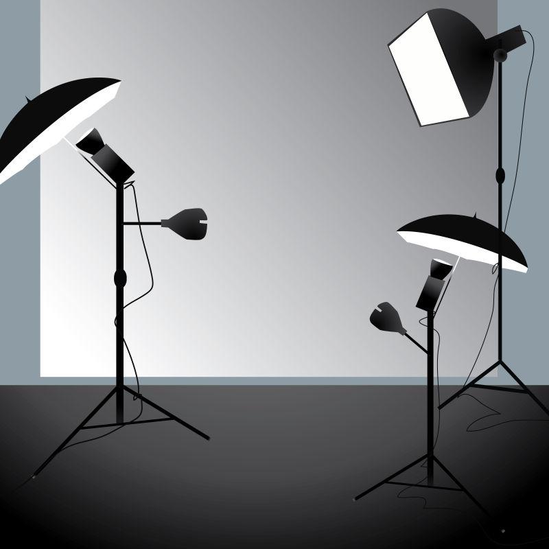 矢量摄影工作室设备