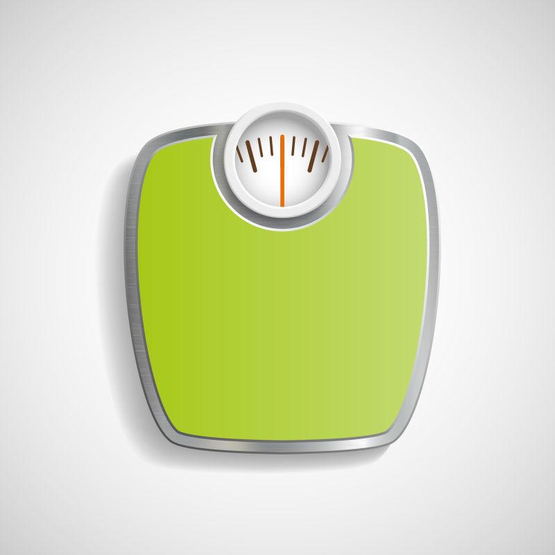 矢量的绿色体重秤