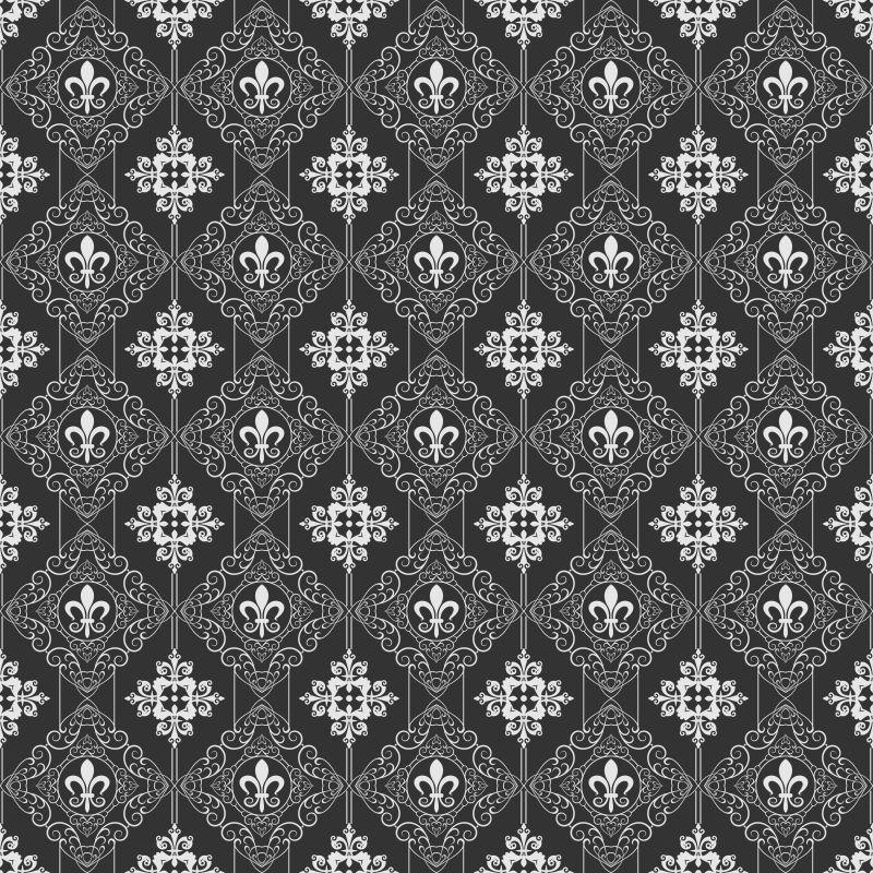 矢量的黑白花纹图案