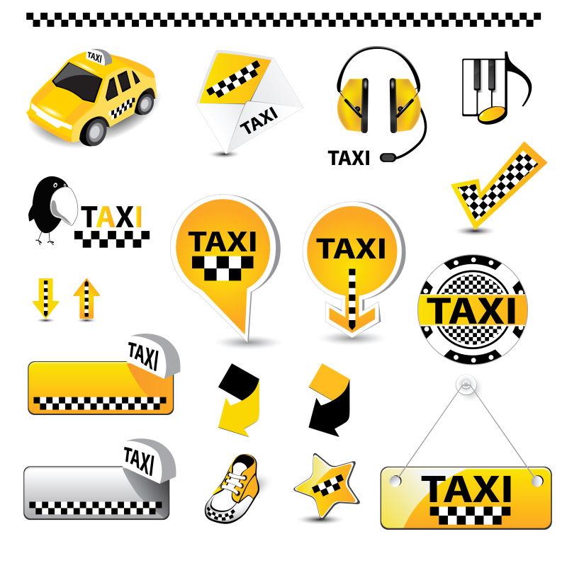 矢量的出租车插图相关设计