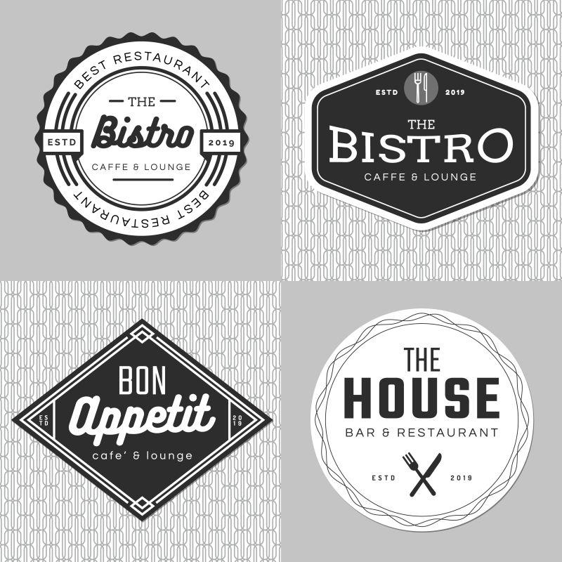 创意矢量食品餐厅标志设计