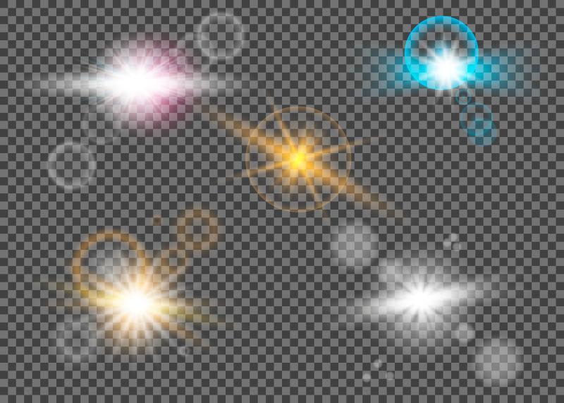 矢量彩色的灯光效果