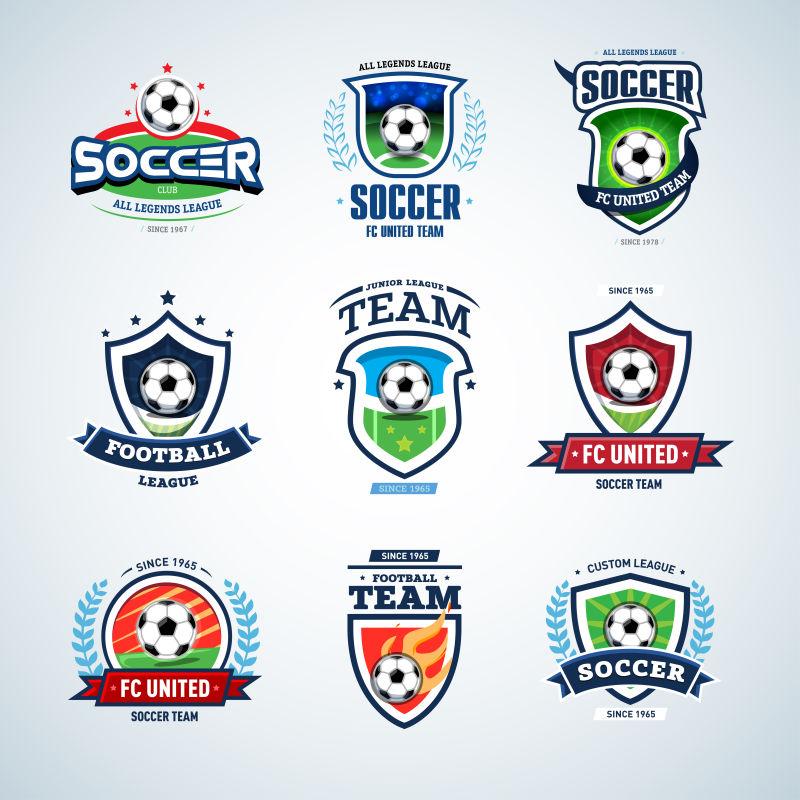 矢量的足球运动标志设计