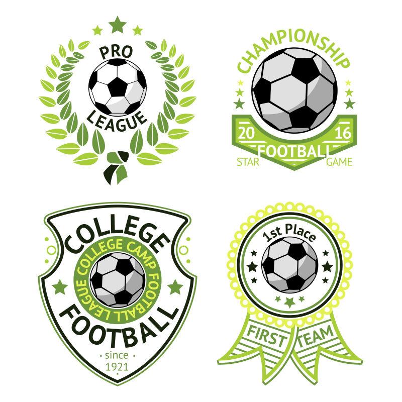 足球运动标志矢量设计