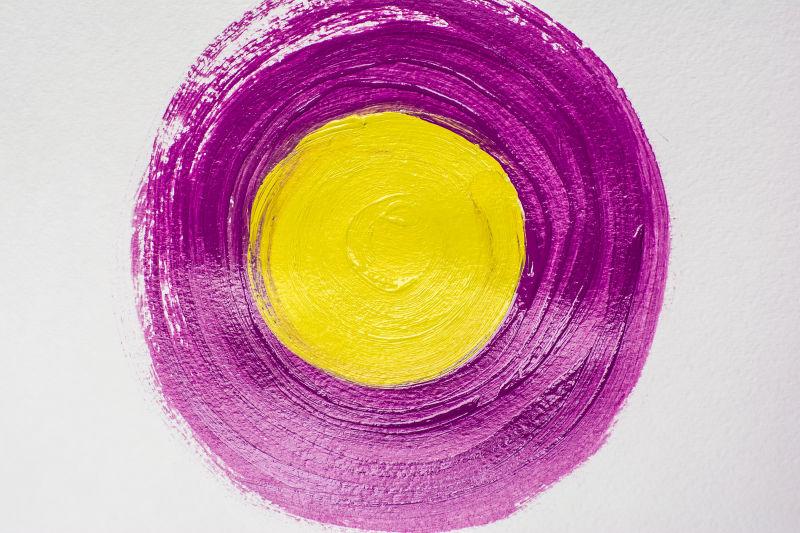 黄紫丙烯酸手工圈
