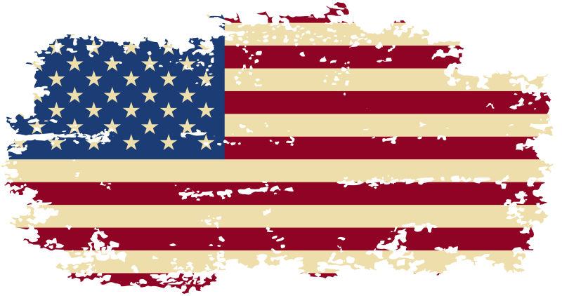 破损的美国国旗