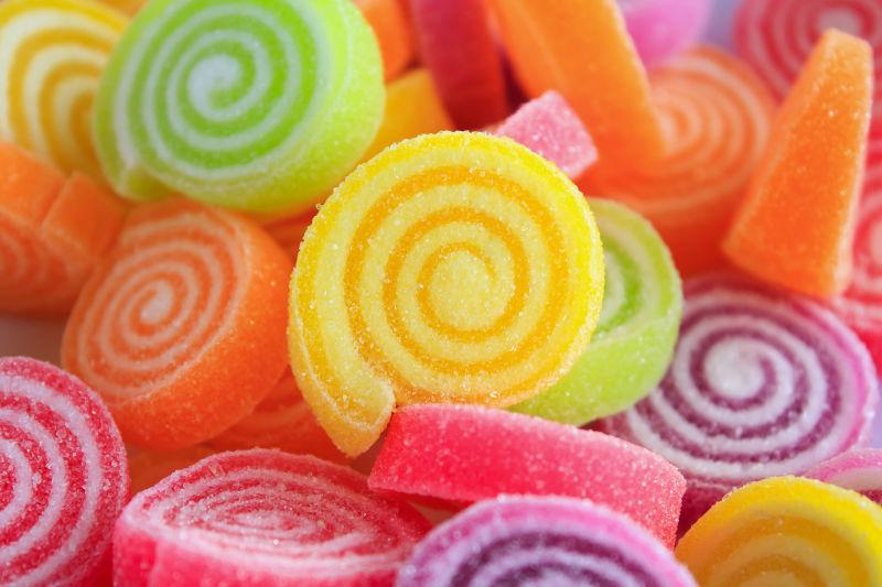 彩色甜果冻糖