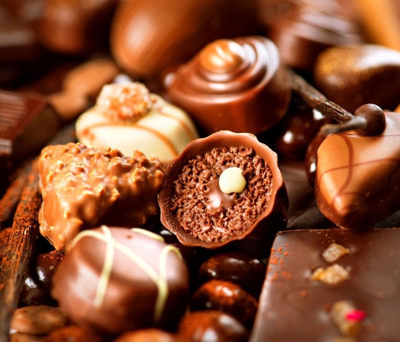 各种类型的巧克力