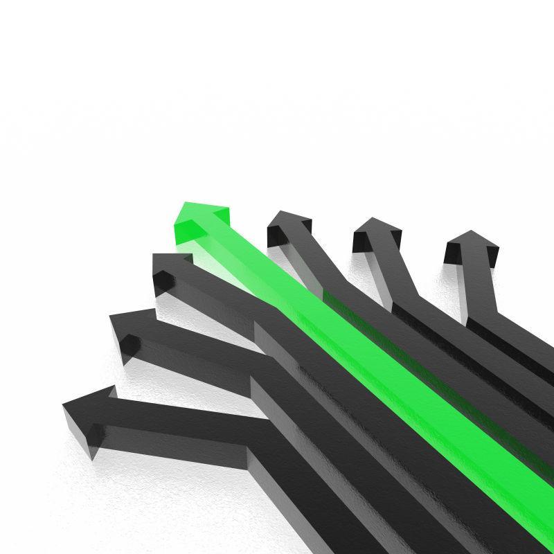 绿色3D箭头背景