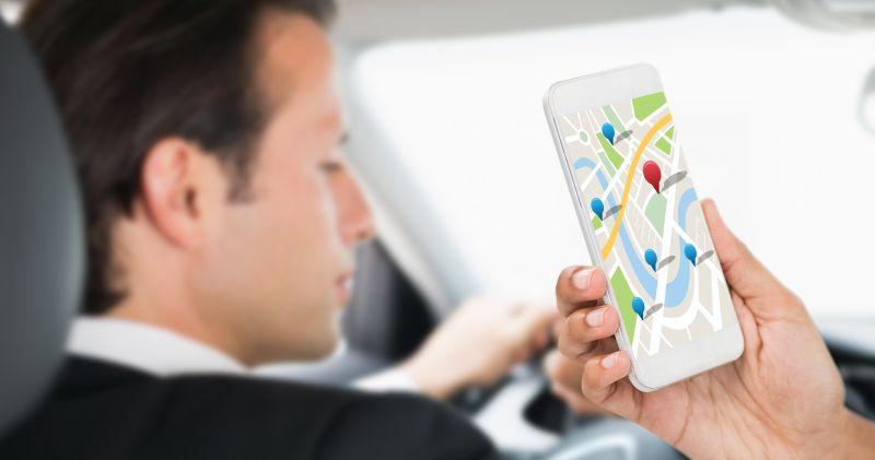 手机GPS导航复合图像