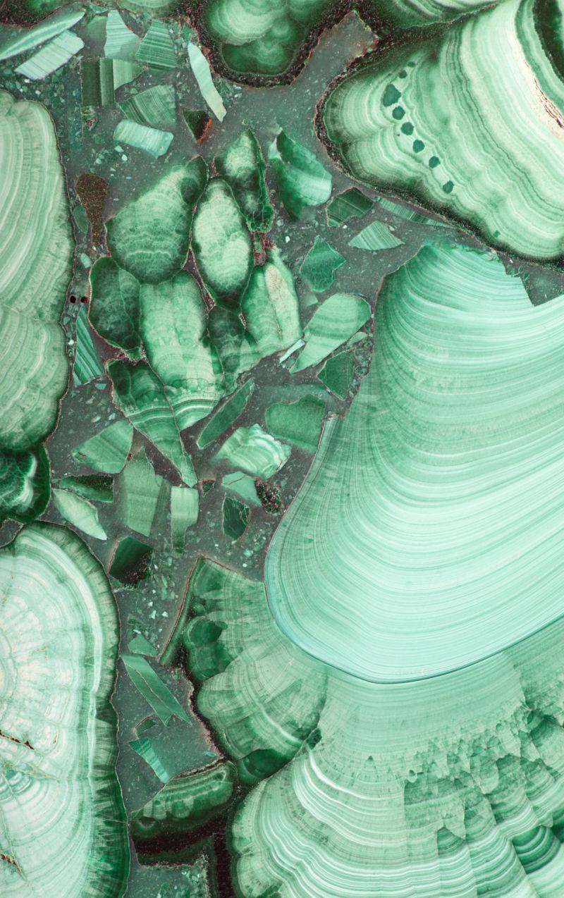 绿孔雀石纹理背景