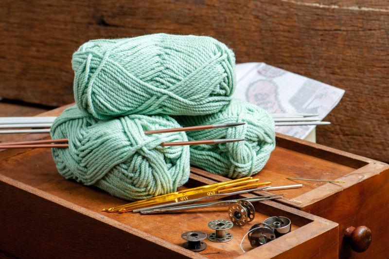 针织绿色毛线