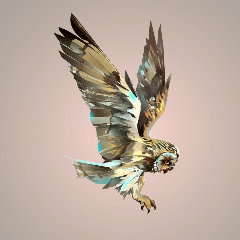 美丽的彩绘猫头鹰