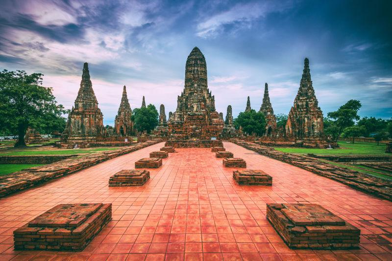 泰国的大城府寺庙建筑