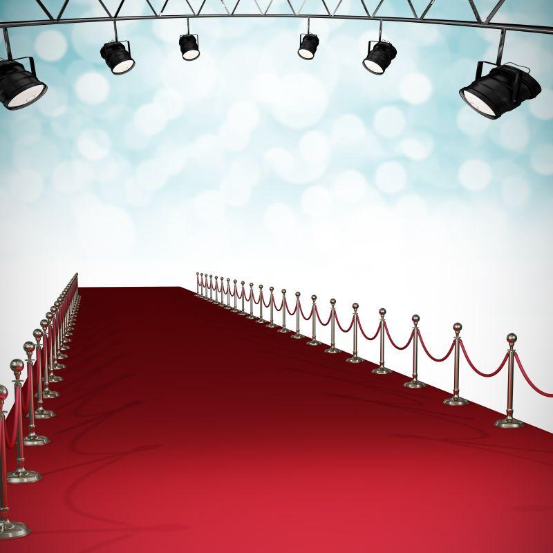地面上的红色地毯