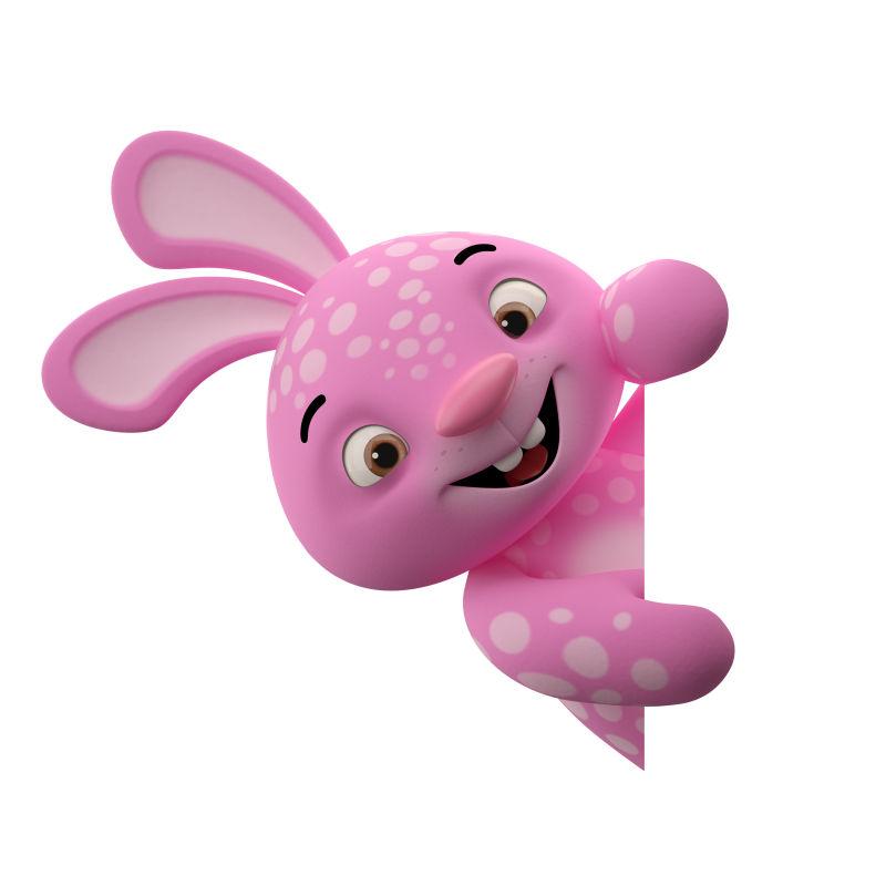 粉红色的兔子