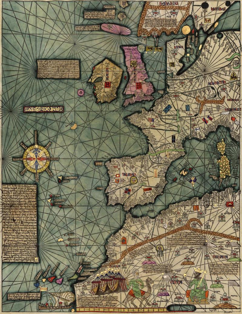 国外古老的地图