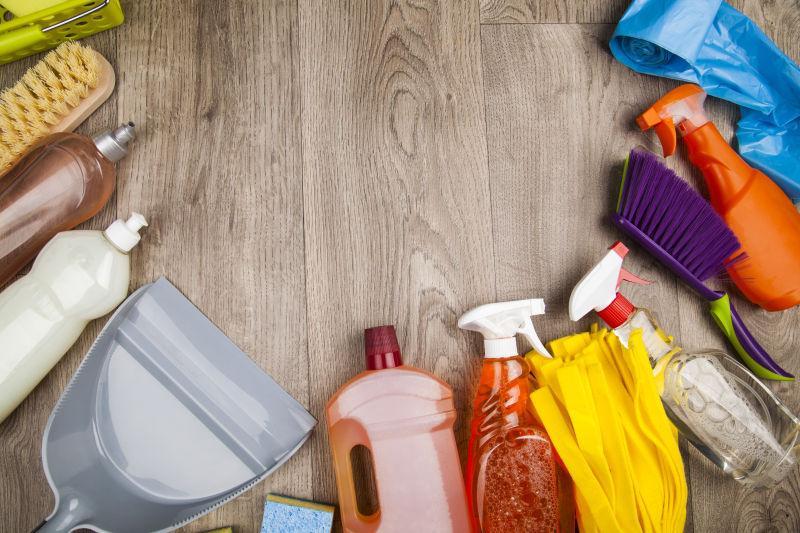 各式各样的清洁产品
