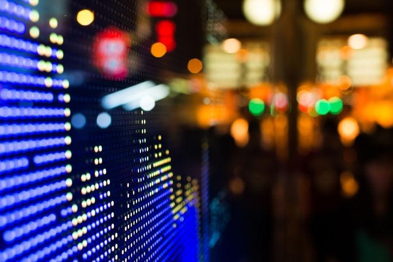 商业股票市场价格显示