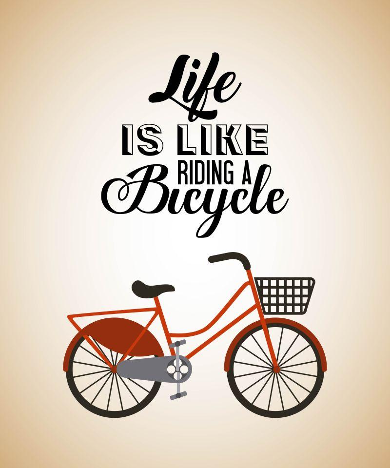矢量健康自行车元素的插图