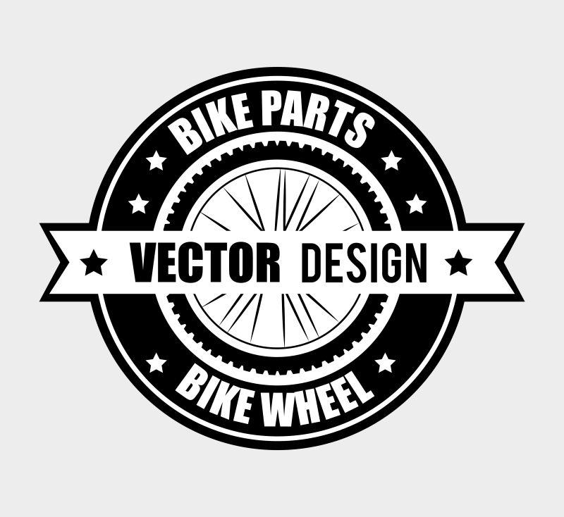 矢量自行车概念标志设计创意