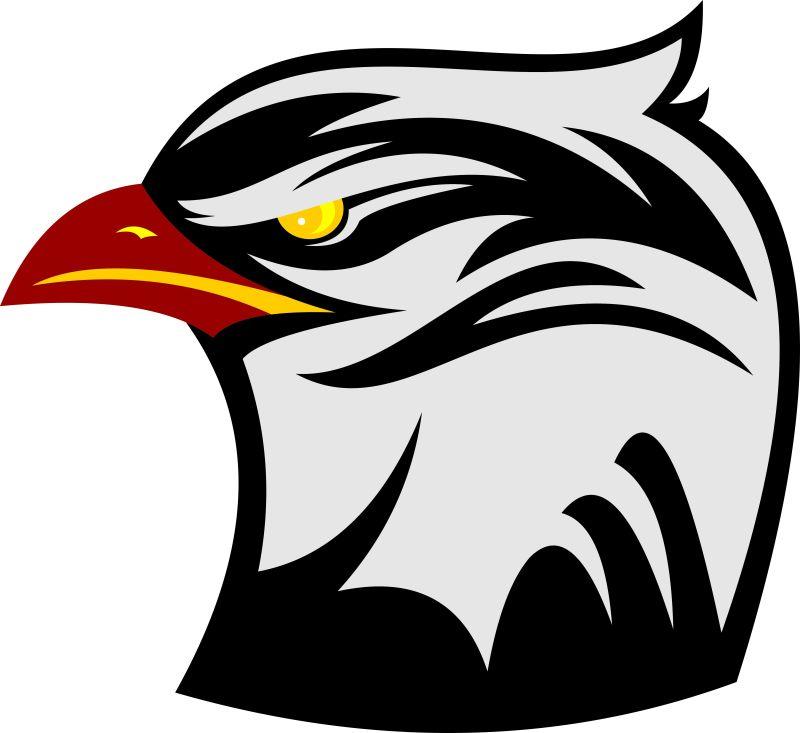 卡通老鹰的矢量标志设计