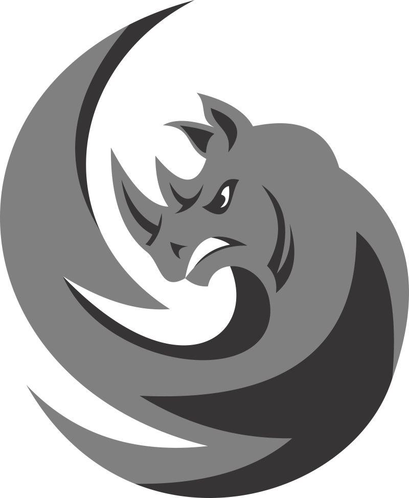 抽象龙的矢量标志设计