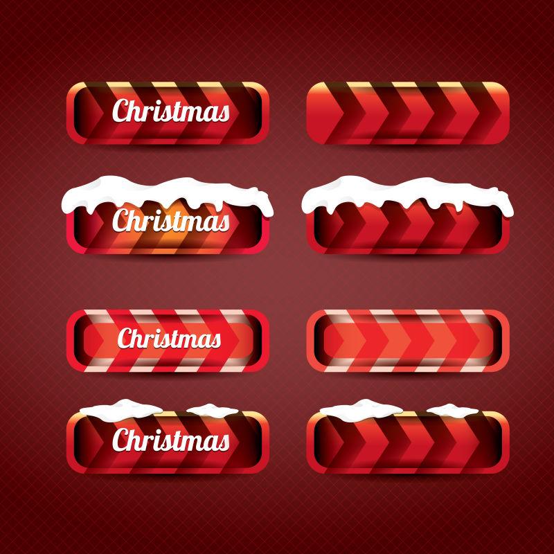 矢量的圣诞网页按钮设计