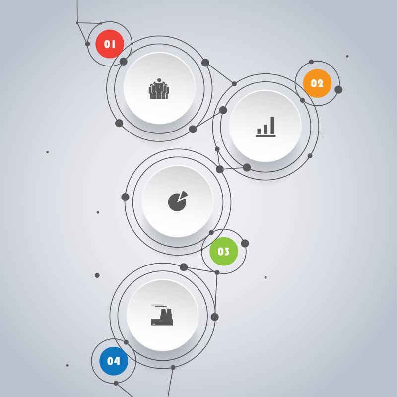 创意的圆形图案信息表矢量设计