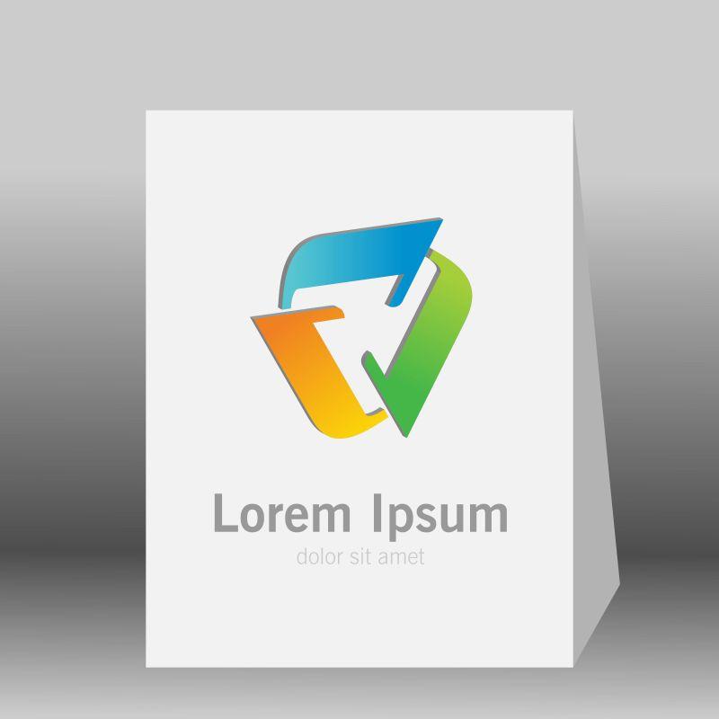 矢量的彩色环形logo设计
