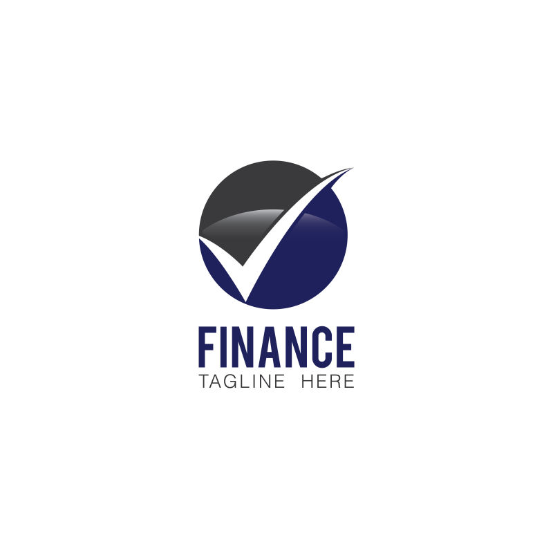 矢量抽象球形金融标志设计
