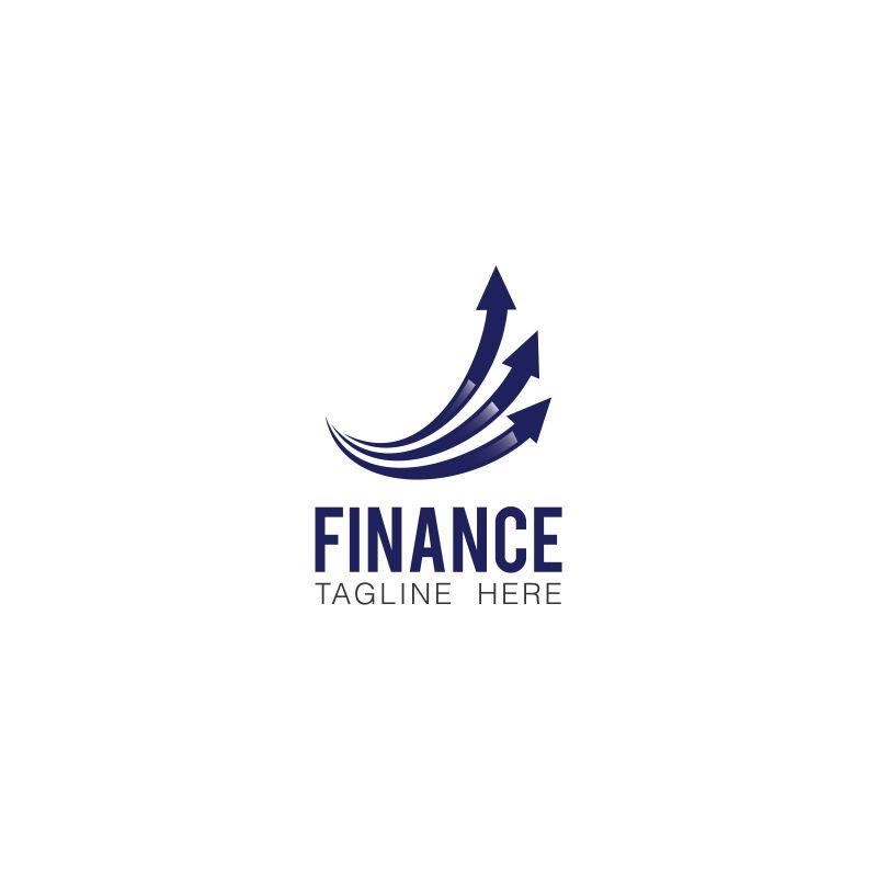抽象矢量财政金融的标志设计