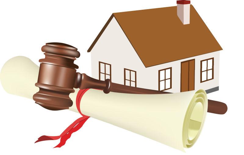 矢量司法出售房子的插图