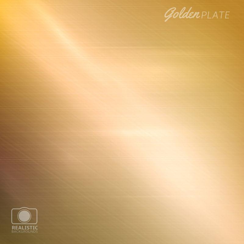 矢量的金色金属纹理背景
