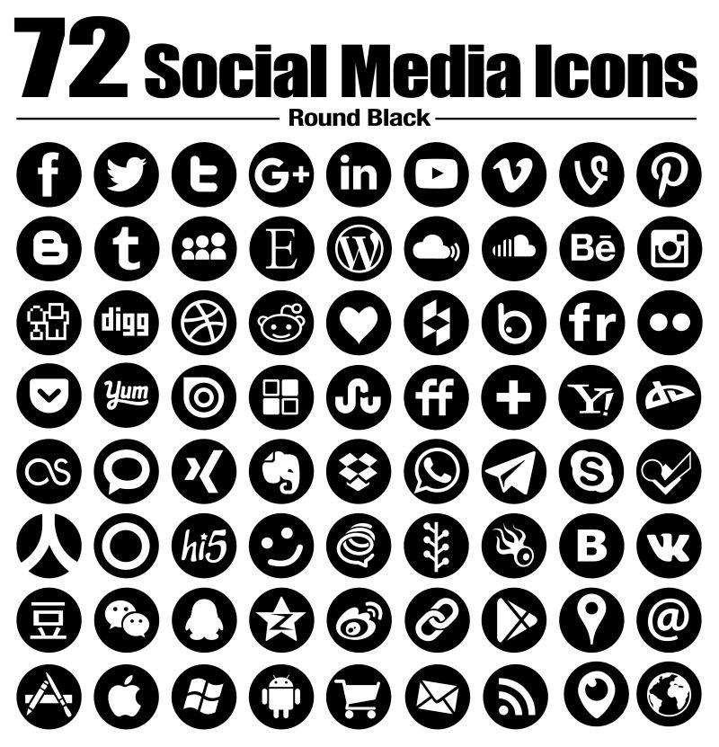 矢量社交媒体创意图标设计