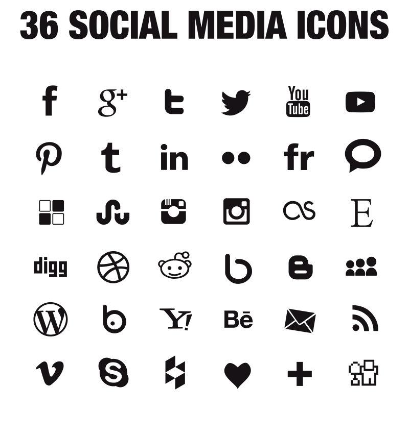 创意矢量社交图标设计
