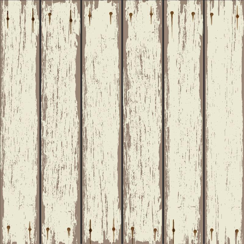 矢量上了白漆的木材背景