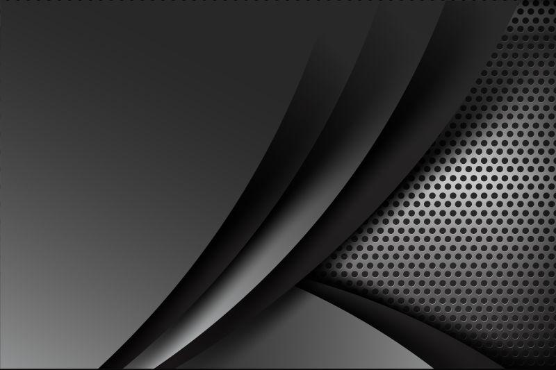 立体的黑色背景矢量设计