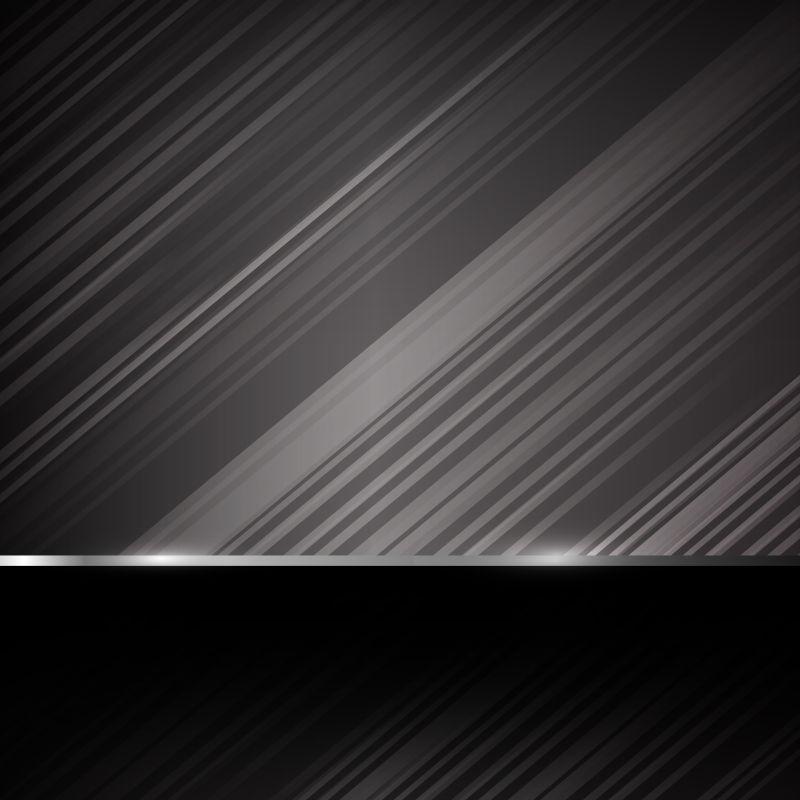 灰色条纹的矢量金属背景
