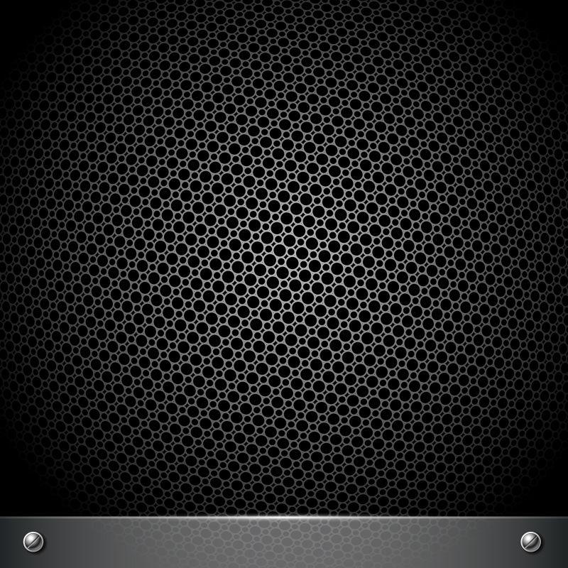 矢量的黑色金属网状背景