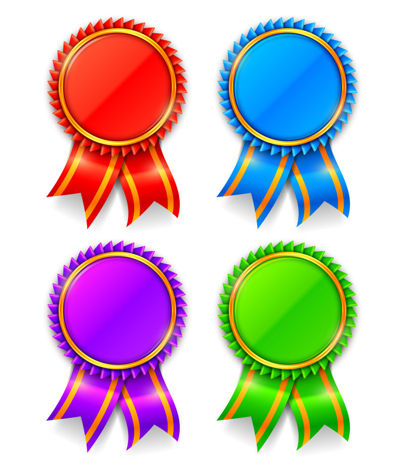 四枚矢量奖章