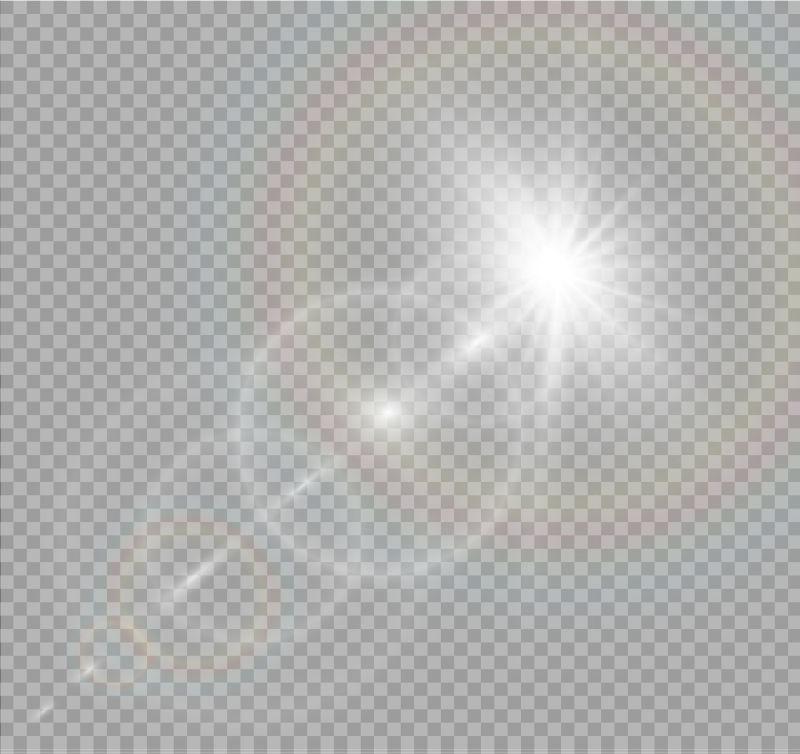 矢量抽象透明的阳光效果插图