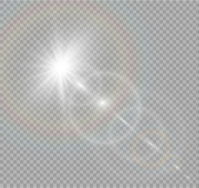 抽象矢量透明阳光效果背景